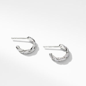 Pavéflex Huggie Hoop Earrings with Diamonds in 18K White Gold alternative image