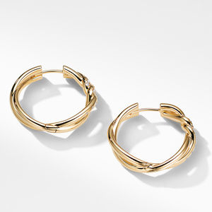 Continuance® Hoop Earrings with Diamonds in 18K Gold alternative image