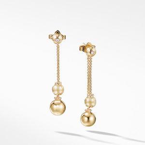 Solari Chain Drop Earrings with Diamonds in 18K Gold