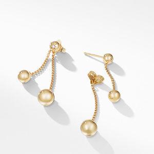 Solari Chain Drop Earrings with Diamonds in 18K Gold alternative image