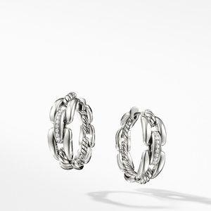 Wellesley Hoop Earrings with Diamonds, 23mm