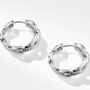 Wellesley Hoop Earrings with Diamonds, 23mm alternative image