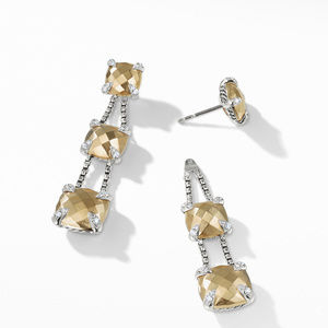 Chatelaine® Linear Chain Earrings with 18K Gold and Diamonds alternative image