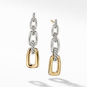 Wellesley Link Drop Earrings with 18K Gold