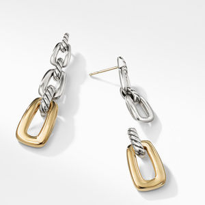 Wellesley Link Drop Earrings with 18K Gold alternative image