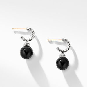 Solari Hoop Earrings with Diamonds and Black Onyx alternative image