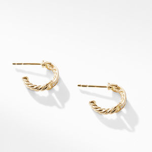 Petite Pavé Hoop Earrings with Diamonds in 18K Gold alternative image