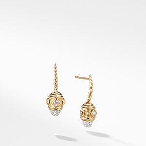 Renaissance Drop Earrings with Diamonds in 18K Gold