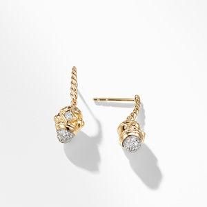 Renaissance Drop Earrings with Diamonds in 18K Gold alternative image