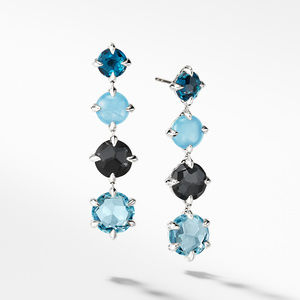 Chatelaine® Drop Earrings with Blue Topaz
