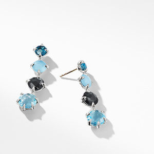Chatelaine® Drop Earrings with Blue Topaz alternative image