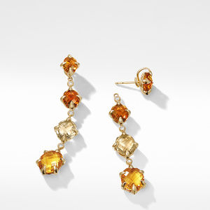 Chatelaine® Drop Earrings in 18K Gold with Citrine and Diamonds alternative image