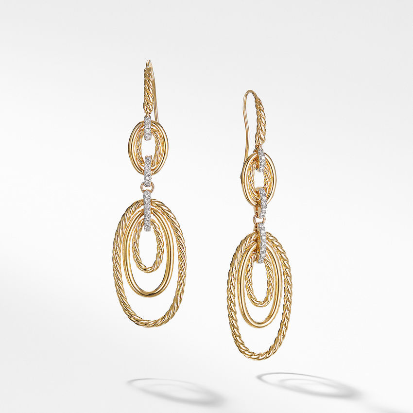 Continuance® Drop Earrings with Diamonds in 18K Yellow Gold
