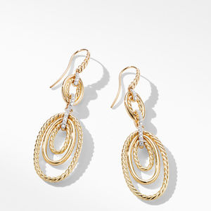 Continuance® Drop Earrings with Diamonds in 18K Yellow Gold alternative image