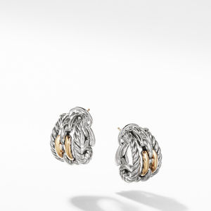 Wellesley Link Hoop Earrings with 18K Gold