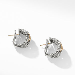 Wellesley Link Hoop Earrings with 18K Gold alternative image
