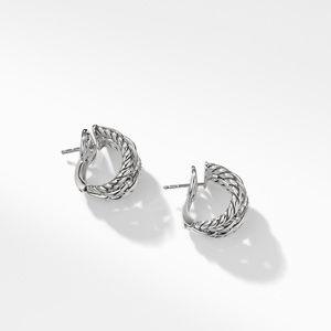 Wellesley Link Hoop Earrings with Diamonds alternative image