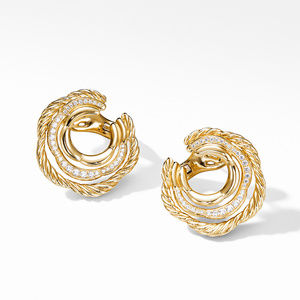 Tides Hoop Earring in 18K Yellow Gold with Diamonds alternative image