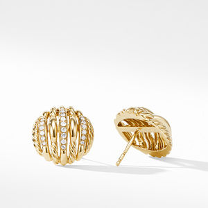 Tides Stud Earrings in 18K Yellow Gold with Diamonds alternative image