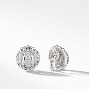 Tides Stud Earrings with Diamonds alternative image