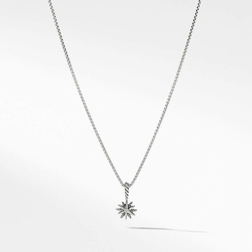Starburst Kids Necklace with Diamonds, 8mm