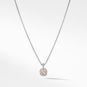 Albion® Kids Necklace with Morganite and Diamonds, 4mm