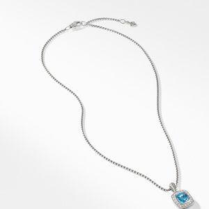 Petite Albion® Pendant Necklace with Blue Topaz and Diamonds alternative image