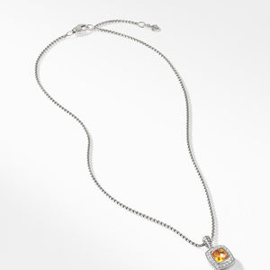 Pendant Necklace with Citrine and Diamonds alternative image