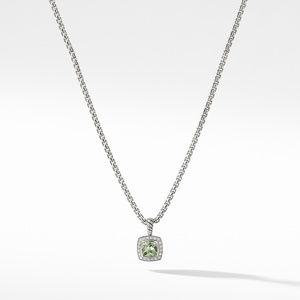 Pendant Necklace with Prasiolite and Diamonds