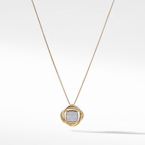 Infinity Small Pendant Necklace with Diamonds in Gold