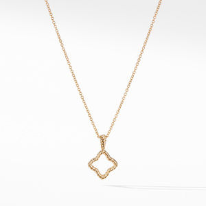 Cable Collectibles Quatrefoil® Pendant with Diamonds in Gold on Chain alternative image