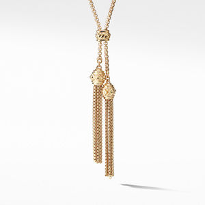 Tassel Necklace with 18K Gold