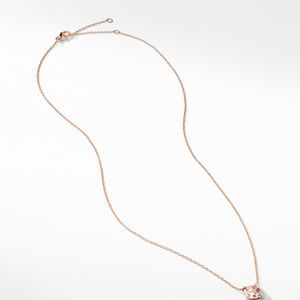 Chatelaine® Pendant Necklace with Diamonds in 18K Rose Gold, 7mm alternative image