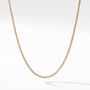 Box Chain Necklace in 18K Gold, 1.7mm