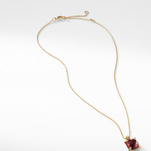 Pendant Necklace with Garnet and Diamonds in 18K Gold alternative image
