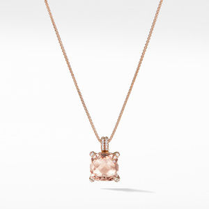 Chatelaine® Pendant Necklace with Diamonds in 18K Rose Gold, 11mm