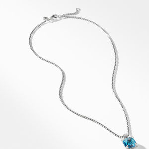 Chatelaine® Pendant Necklace with Blue Topaz and Diamonds, 11mm alternative image