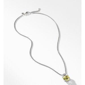 Pendant Necklace with Lemon Citrine and Diamonds alternative image
