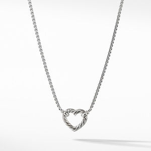 Heart Station Necklace with Diamonds alternative image