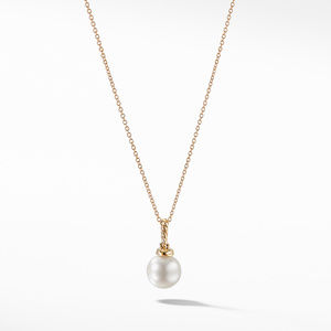 Pendant Necklace with Pearls and Diamonds in 18K Gold alternative image