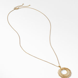Stax Pendant Necklace with Diamonds in 18K Gold, 41mm alternative image