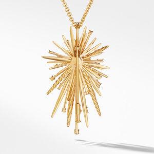 Supernova Pendant Necklace with Diamonds in 18K Gold alternative image