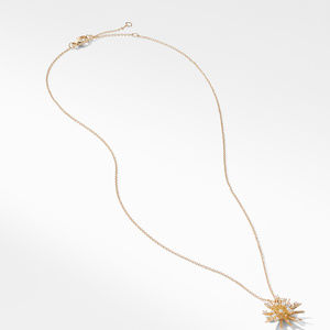 Supernova Small Pendant Necklace with Diamonds in 18K Gold alternative image