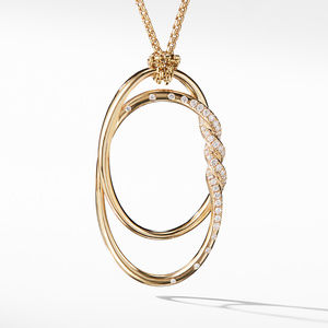 Continuance Pendant Necklace with Diamonds in 18K Gold