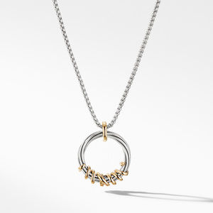 Helena Medium Pendant Necklace with Diamonds and 18K Gold, alternative image