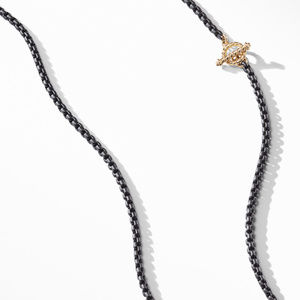 DY Bel Aire Chain Necklace in Black with 14K Gold Accents alternative image