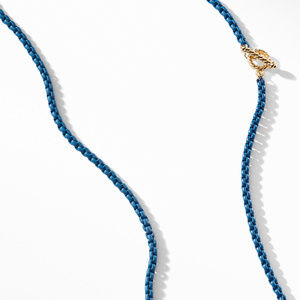 DY Bel Aire Chain Necklace in Navy with with 14K Gold Accents alternative image