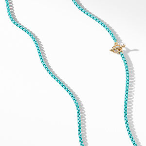 DY Bel Aire Chain Necklace in Turquoise with 14K Gold Accents alternative image