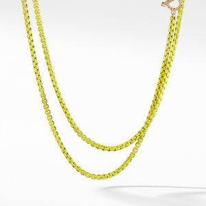 DY Bel Aire Chain Necklace in Yellow with 14K Gold Accents