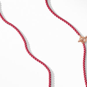 DY Bel Aire Chain Necklace in Coral with 14K Rose Gold Accents alternative image